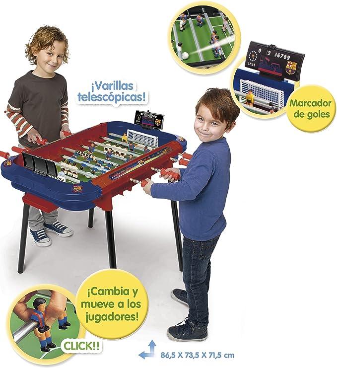 Chicos - Futbolín Strategic Goool Barça (Fábrica de Juguetes 75022): Amazon.es: Juguetes y juegos