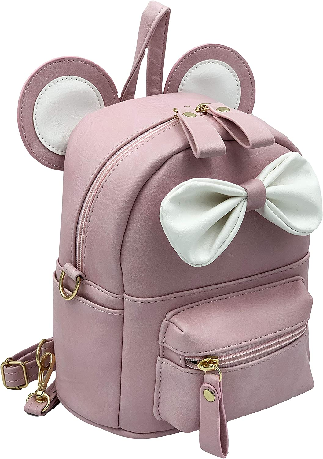Cute small Backpack Mouse ears for girls Minnie Mouse mini backpack for Woman Kids Teens and Toddler Girls