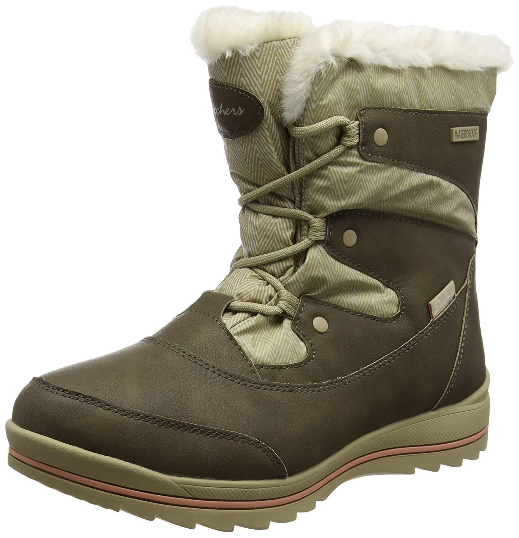 Skechers Damen Colorado Stiefel, Schwarz  38 EU|Braun (Brown/Tan)