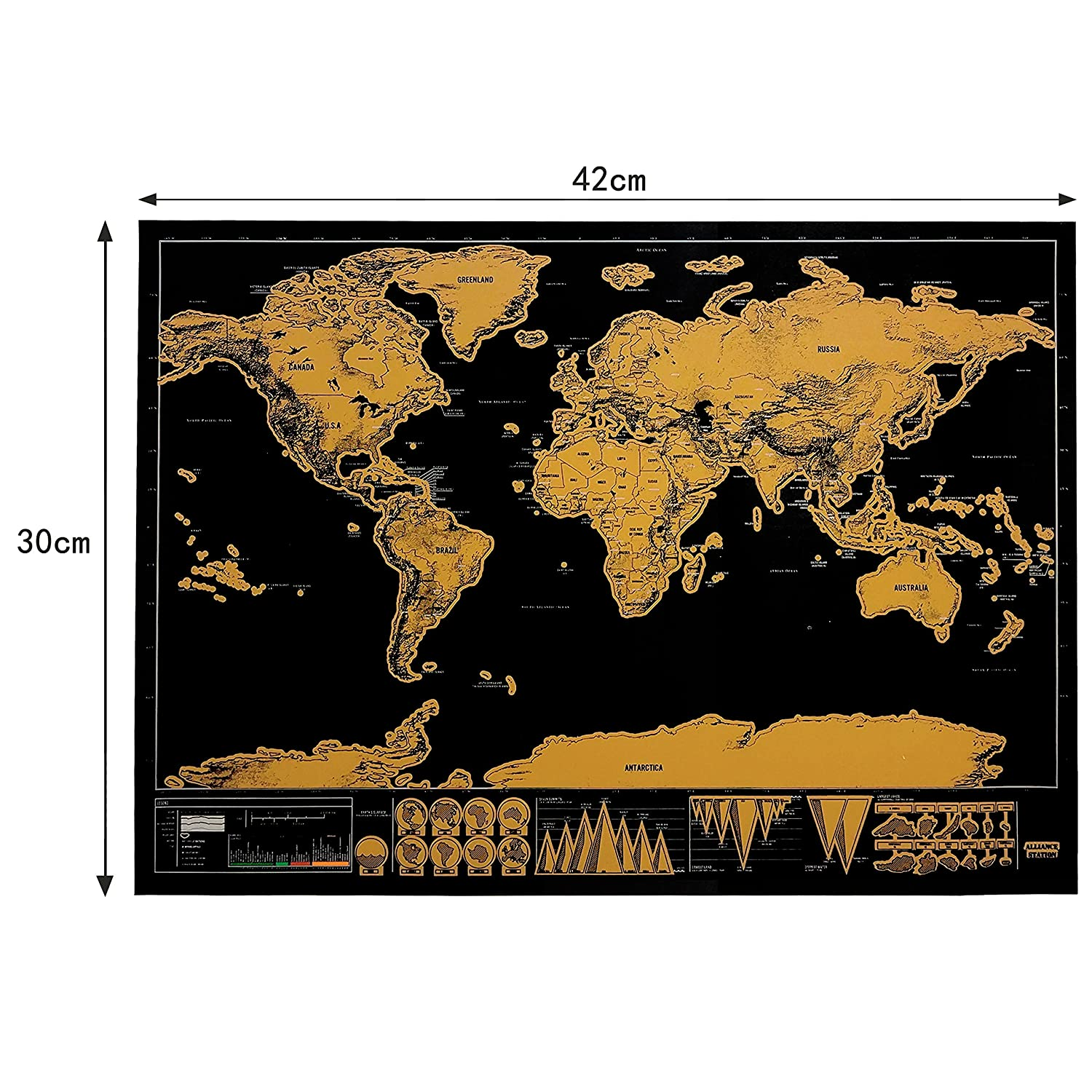 Luxury edition black scrape world map deluxe travel scratch world luxury edition black scrape world map deluxe travel scratch world map travel map poster best present for travelers amazon office products gumiabroncs Choice Image