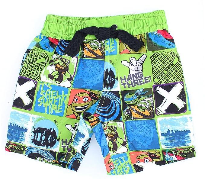 c6d9930eba Ninja Turtles Boys' Teenage Mutant Surfin' Boardshorts - Swim Trunks ...