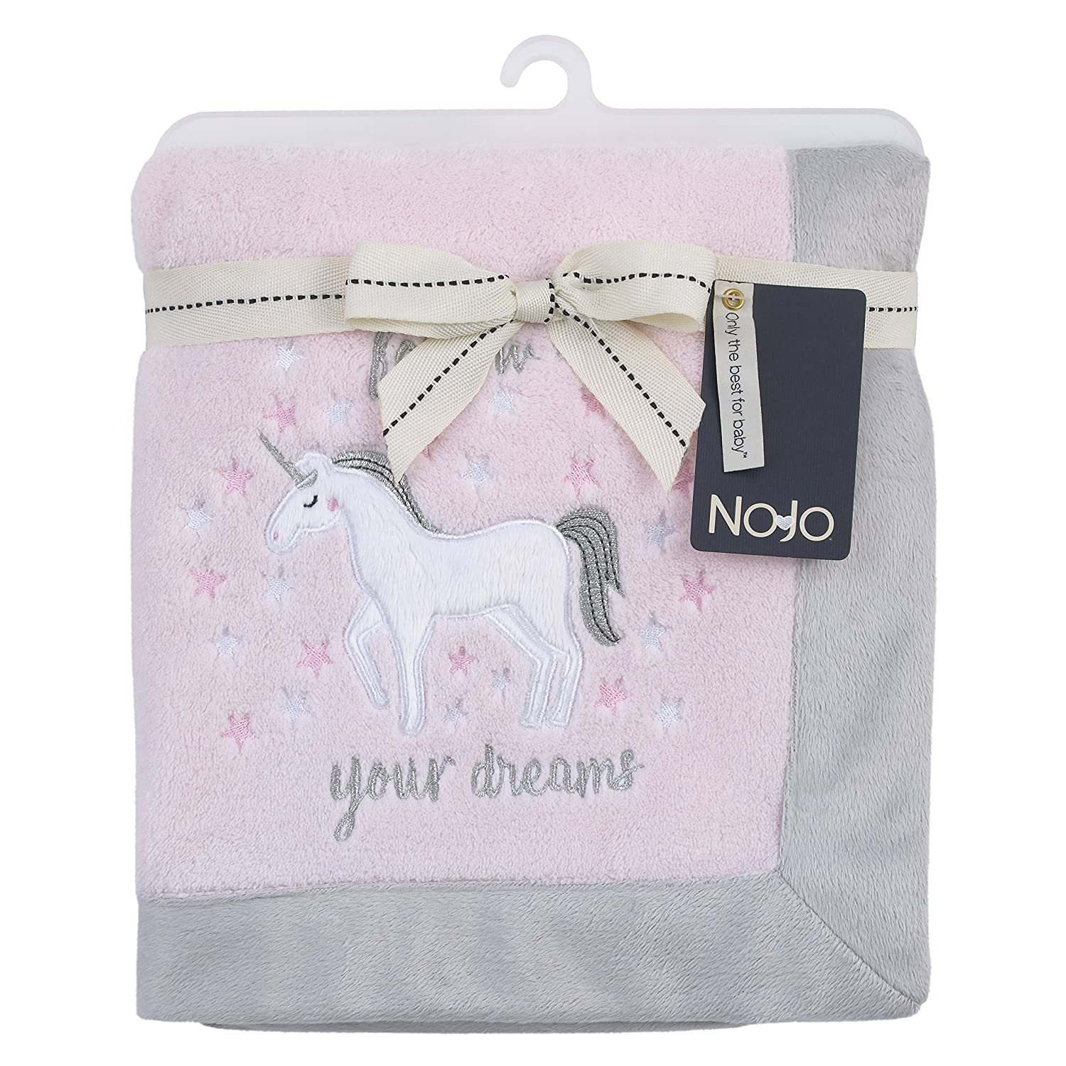 NOJO Unicorn Baby Blanket W/Applique