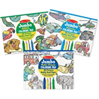Melissa & Doug Jumbo 50-Page Kids' Coloring Pads Set - Animals, Vehicles, and More
