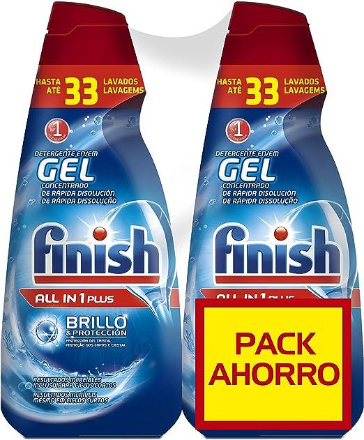Finish Gel Lavavajillas Todo en 1 Max Regular - 70 dosis: Amazon ...