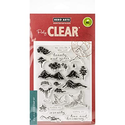 Hero Arts CM302 Clear STMP PAINTN, us:one Size, Ink Painting Scene: Arts, Crafts & Sewing