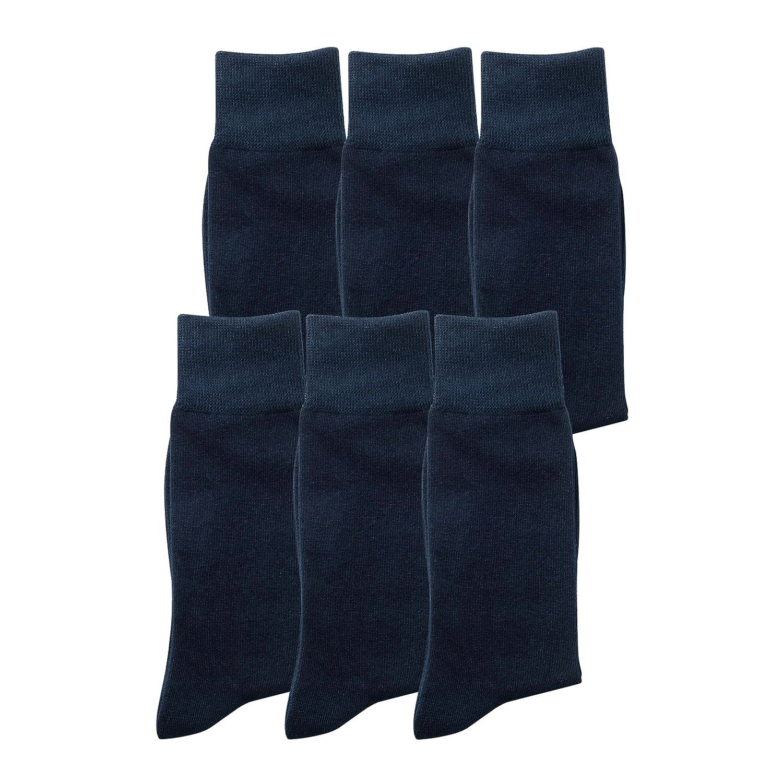 6 oder 12 Paar Herrensocken aus Baumwolle elegante Socken in 6er oder 12er Pack aus Baumwolle, für Business oder Freizeit, kein Naht, blickdicht, keine Druckstellen an Bein
