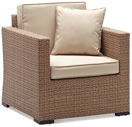 Strathwood Griffen All Weather Wicker Chair, Natural