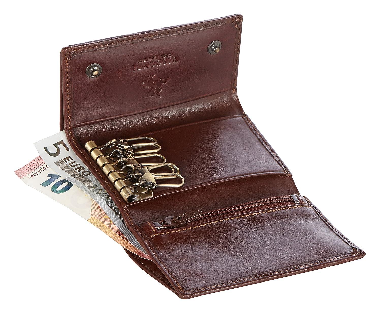 Amazon.com: Visconti 1178 Funda de piel clave cartera/Key ...