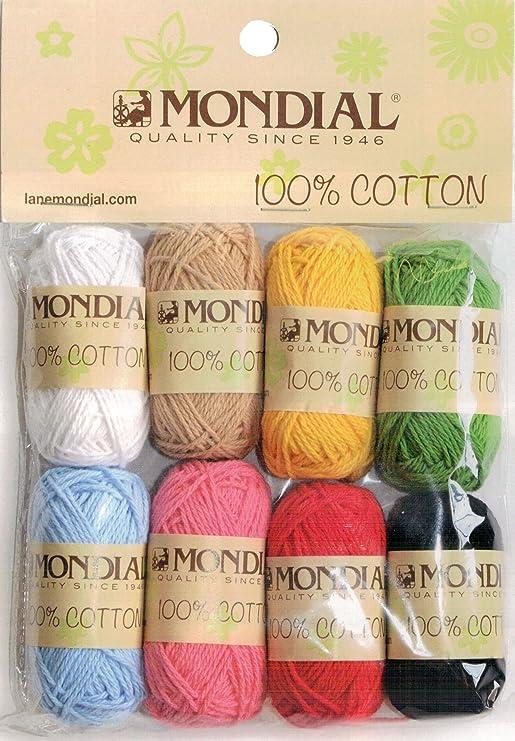 Kit 8 Mini ovillos 100% algodón de 10 g-35 m de varios colores ...