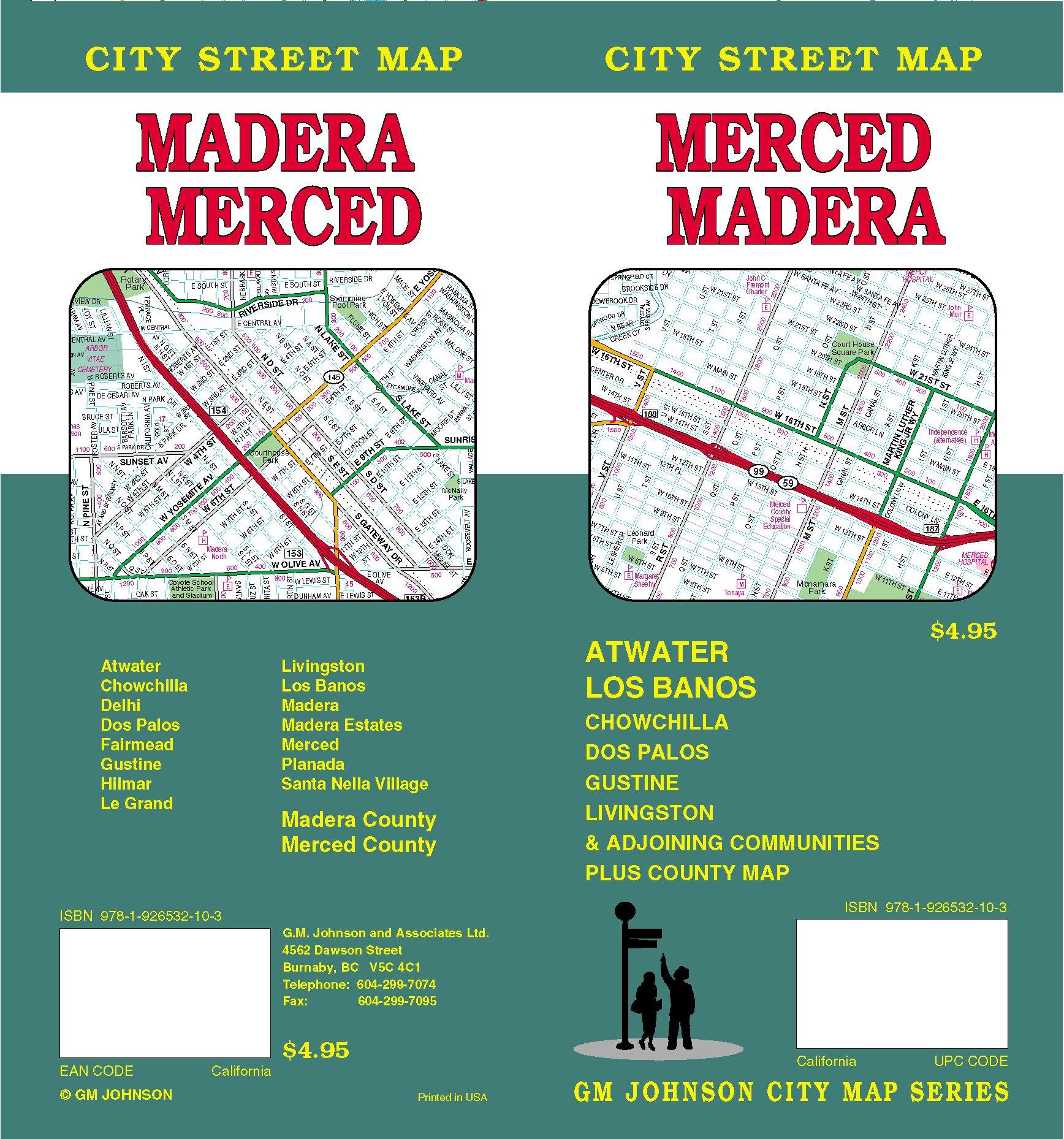 Merced/Madera City Street Map ebook