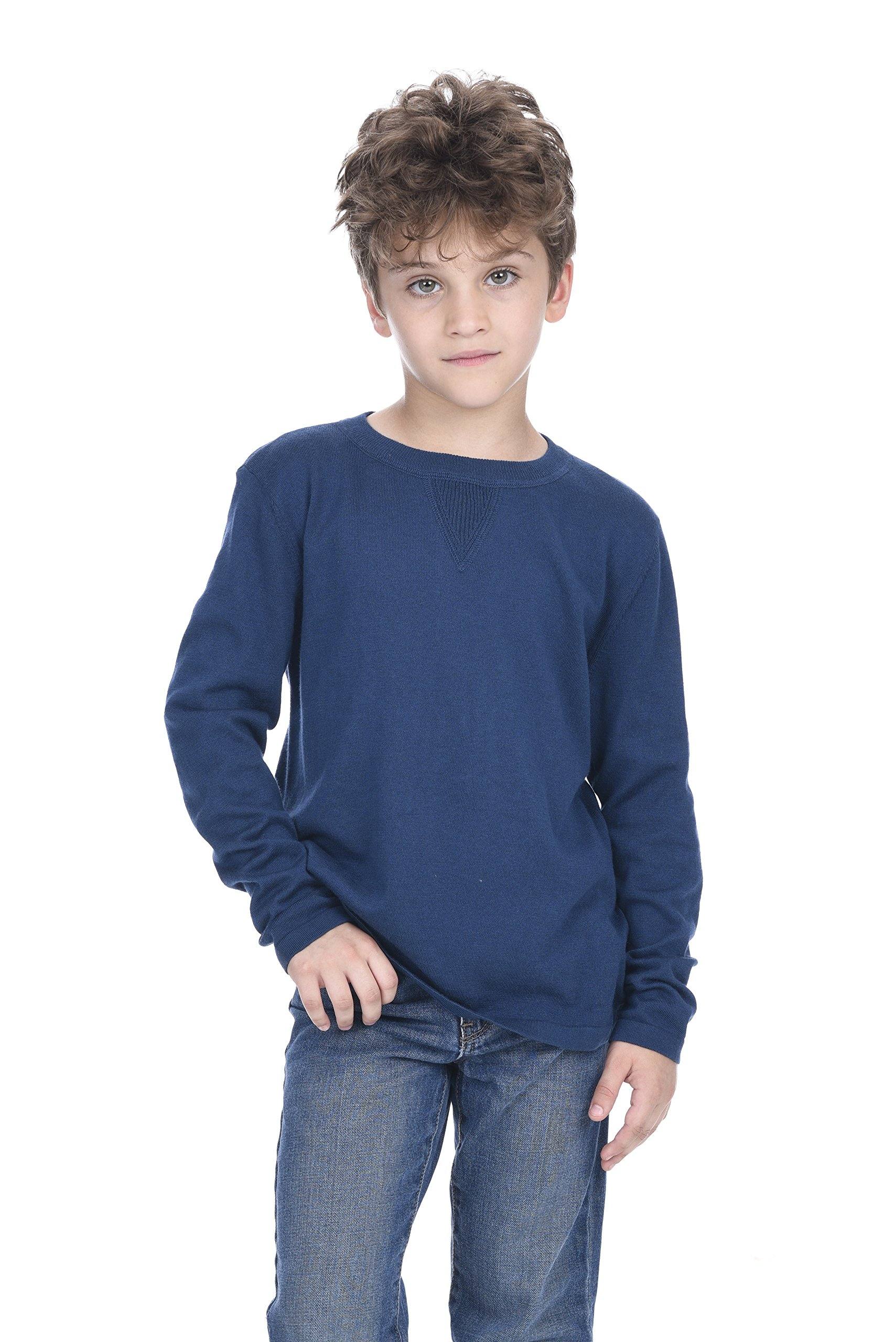 State Cashmere Kids Soft Touch Crew Neck Long Sweatshirt
