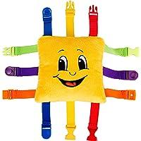 Buckle Toy Bongo Square - Toddler Learning Toys - Sensory Fine Motor Activity - Easy Travel Toy