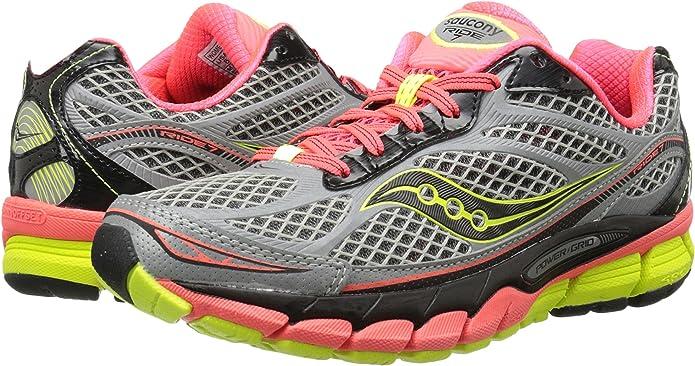 Zapatillas para correr 7 Viziglo para mujer, Plateado / Vizi Coral / Citron, 6.5 M EE. UU.: Amazon.es: Zapatos y complementos