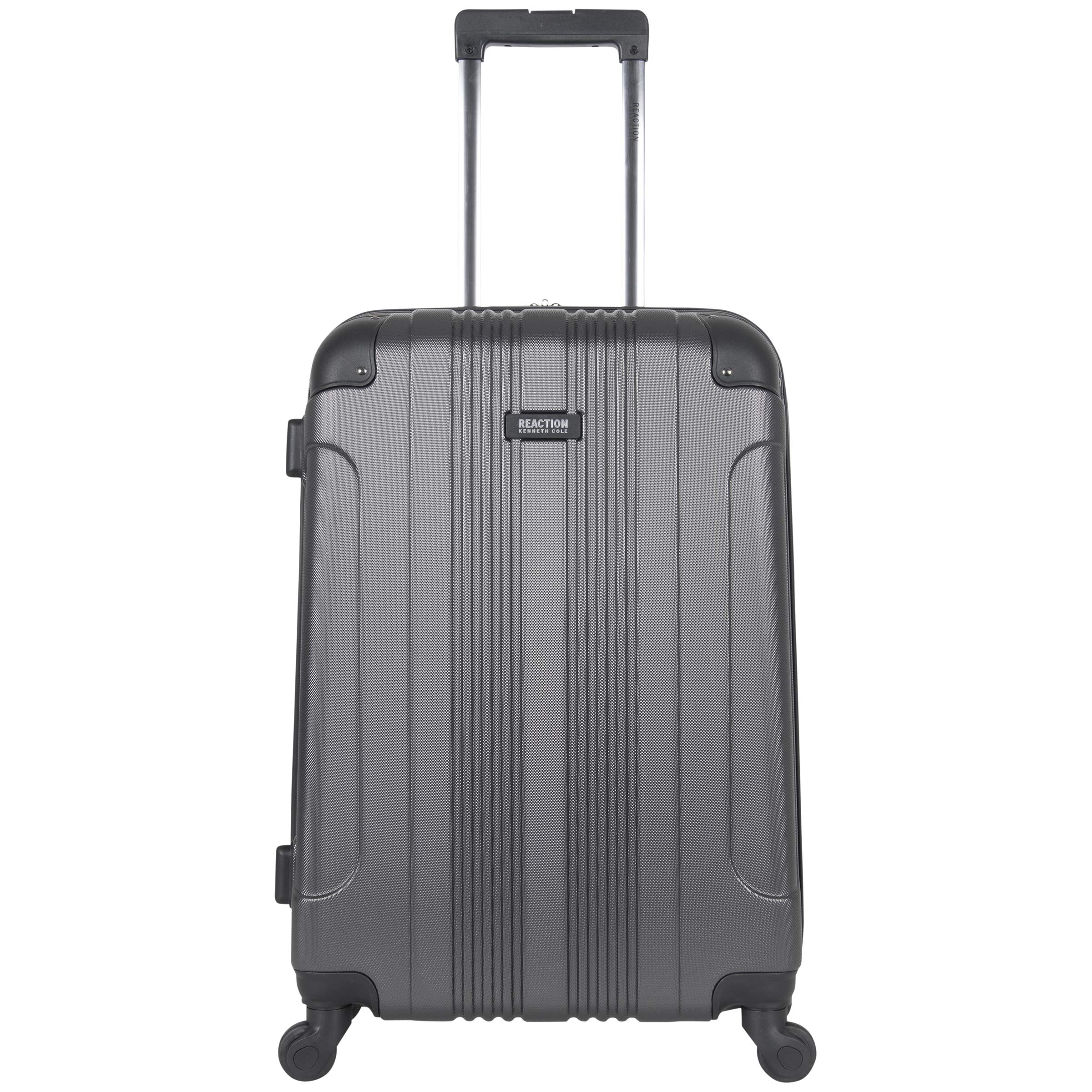 Kenneth Cole Reaction Out Of Bounds 24'' Hardside 4-Wheel Spinner Lightweight Checked Luggage, Charcoal