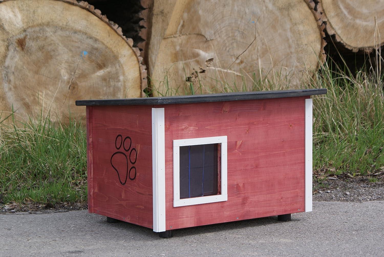 Katzenhütte rotes Katzenhaus running rabbit gmbh Boden wärmegedämmt