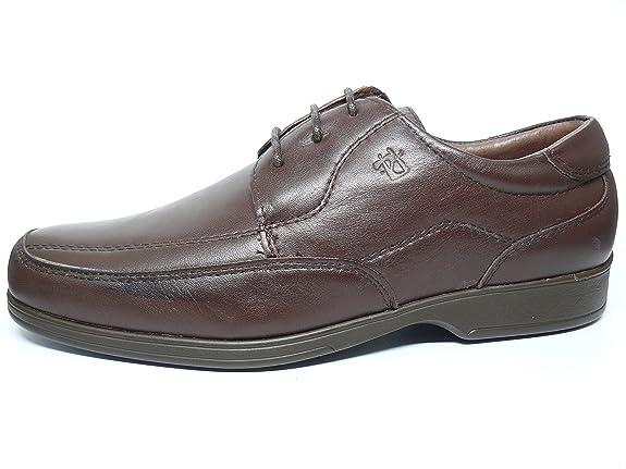 Zapatos hombre con cordones PITILLOS - Piel disponible en color marron y negro - 4001 - 11 10 (42, marron)