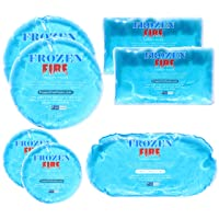 Frozen Fire Hot Cold Gel Packs – 7 Reusable Packs in 4 Sizes for Multiple Applications...
