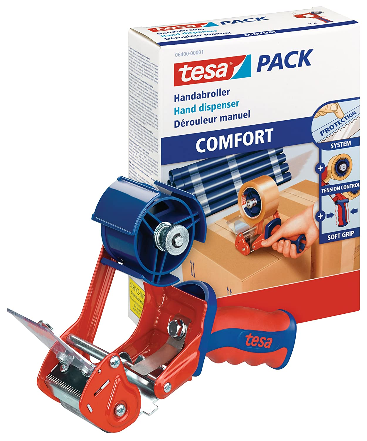 Amazon.com: tesa UK 06400-00001-02 Dispenser Comfort for Packaging Tapes: Home Improvement
