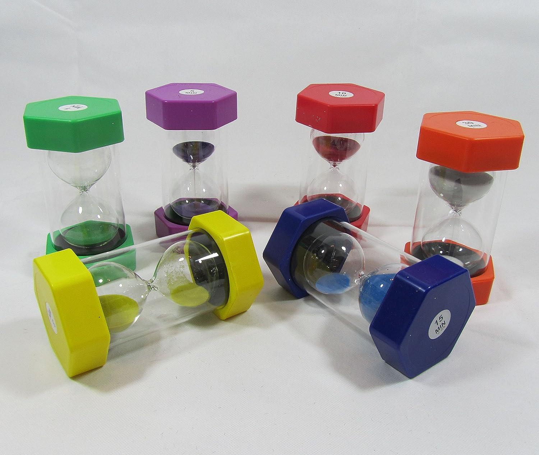 Sanduhr Sanduhren Eieruhren Experimentieren Höhe 16cm 6er Set Top Qualität