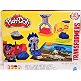 New! Play-Doh Transformers Robots in Disguise 13 Piece Activity Set With Play Mat