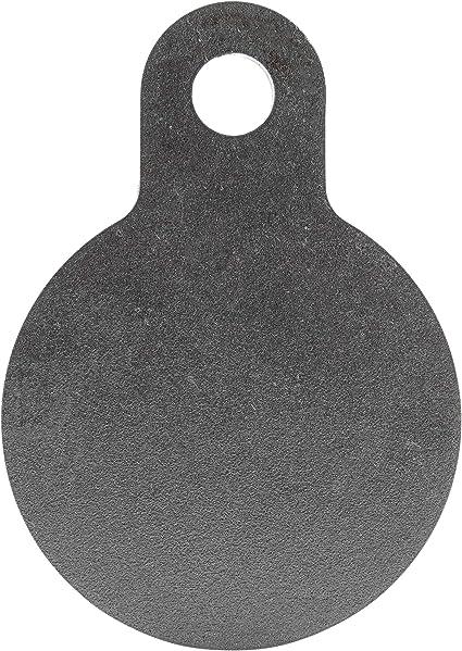 "One AR500 Steel Half Gong 12/"" x 3//8/"" Thick Target Shooting Practice Black"
