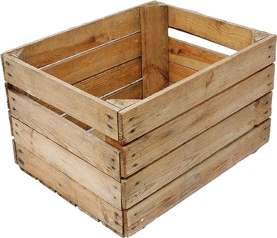 Obstkistenregal 6 macizo + Natural Caja madera Cajas de vino Cajas ...