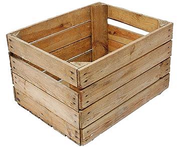 Obstkistenregal 6 macizo + Natural Caja madera Cajas de vino Cajas de manzana Cajas de fruta: Amazon.es: Hogar