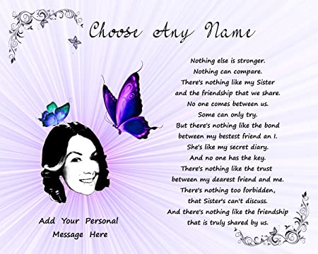 personalised print unique gift ideas for her aunt sister friend