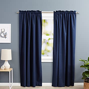 Blackout Curtains blackout curtains navy blue : Amazon.com: AmazonBasics Room Darkening Thermal Insulating ...
