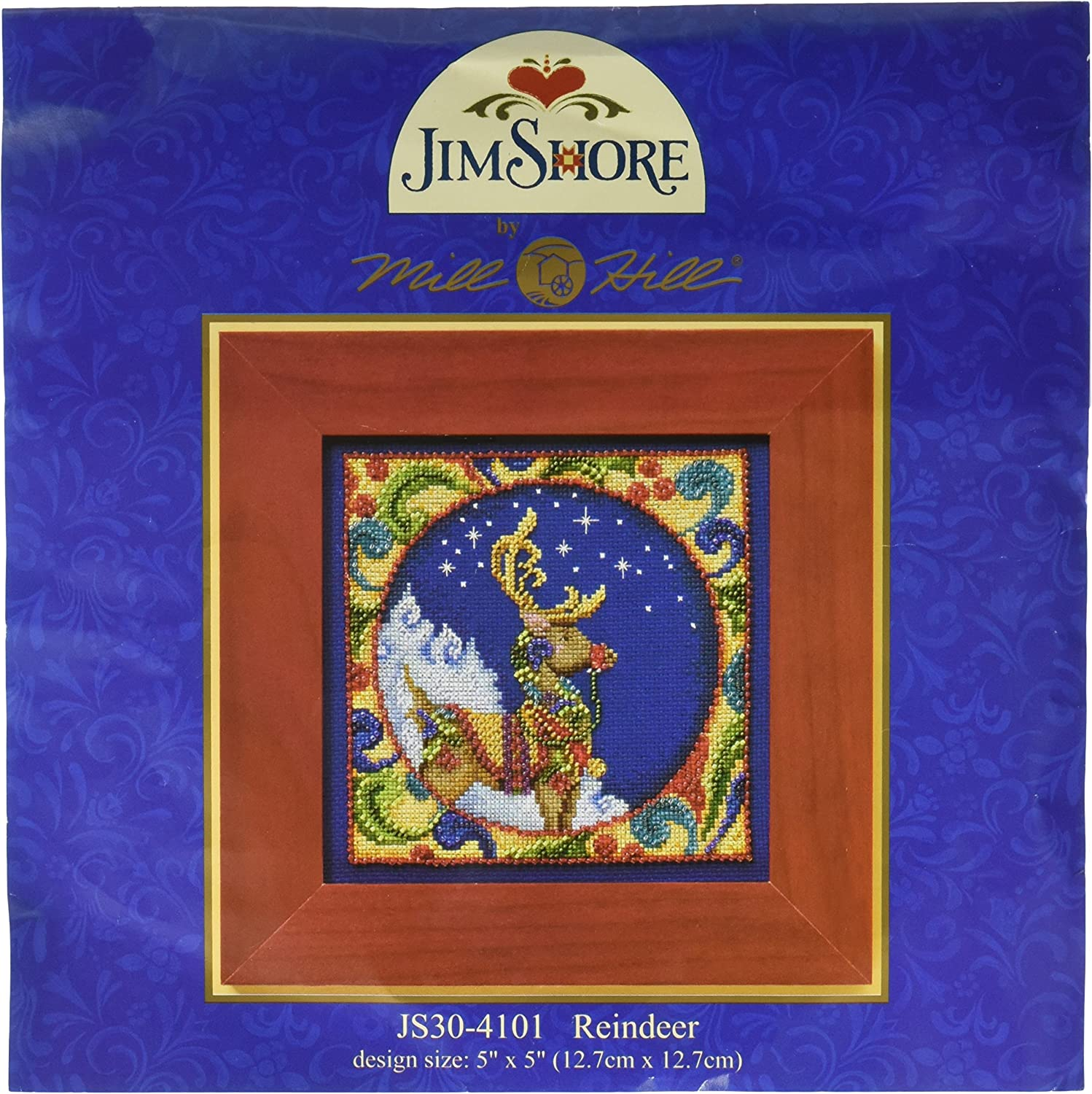 5 by 5-Inch Mill Hill Jim Shore Tree Counted Cross Stitch Kit