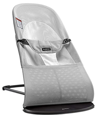 8523b189c73 Amazon.com   BABYBJORN Bouncer Balance Soft - Silver White