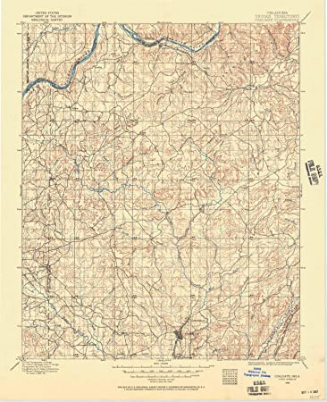 Amazon.com: Oklahoma Maps | 1896 Coalgate, OK USGS Historical ...