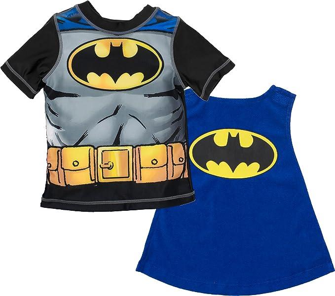 db2f0962c0aac Amazon.com  Warner Bros. Batman Superman Boys  Swim Rash Guard T ...