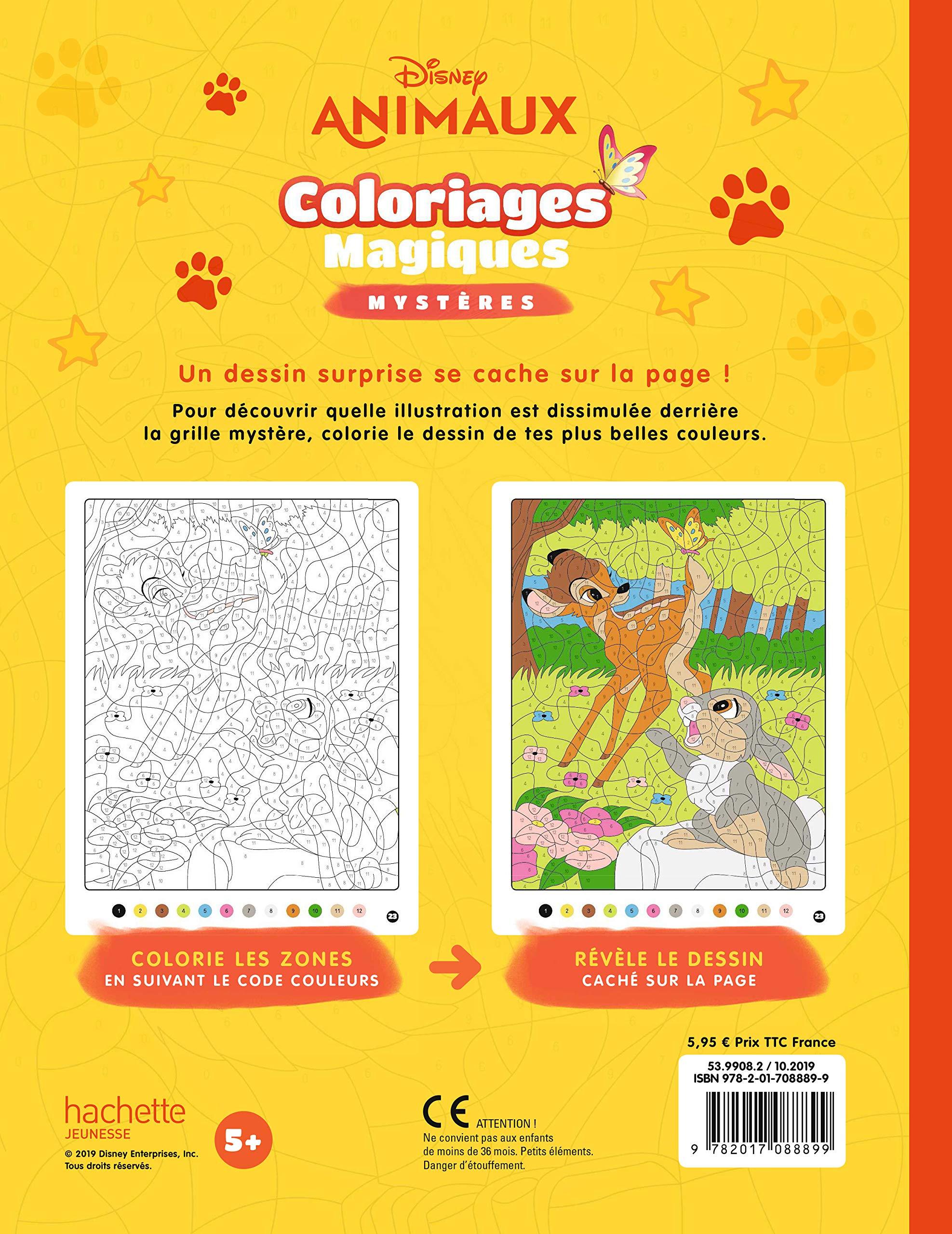 DISNEY ANIMAUX   Coloriages Magiques   Mystères Mystères ...