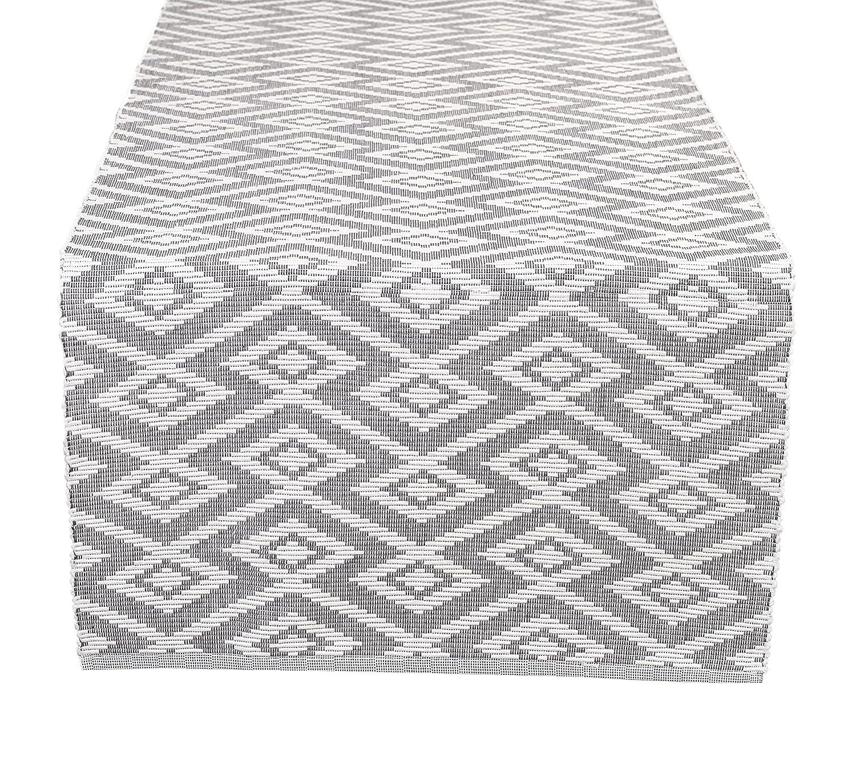 Glamburg コットン織テーブルランナー ダイヤモンド織り 16 x 72 特別な行事に最適 モダンな装飾 ケータリングイベント ディナーパーティー あらゆる使用に 熟練の職人による織物 チャコール   B07KK3DNCT