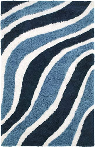 SUPERIOR Davoren Modern Striped Shag Hand-Tufted Indoor Area Rug