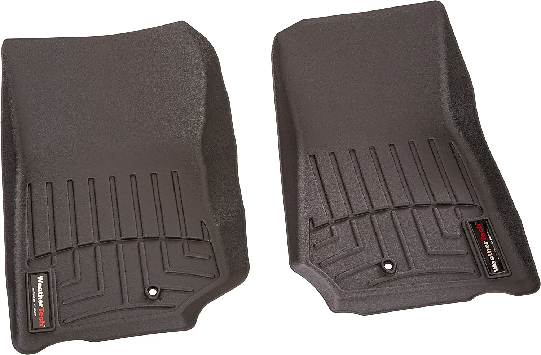 Black WeatherTech Custom Fit Rear FloorLiner for Select Jeep Wrangler Models