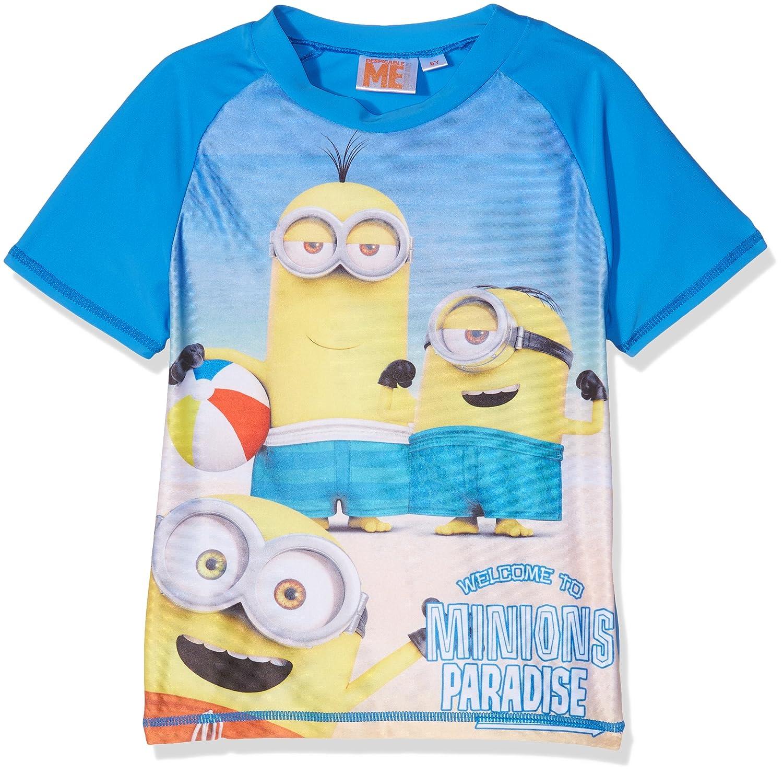 Minions Despicable Me Chicos Swim Shirt - Azul: Amazon.es: Ropa y accesorios