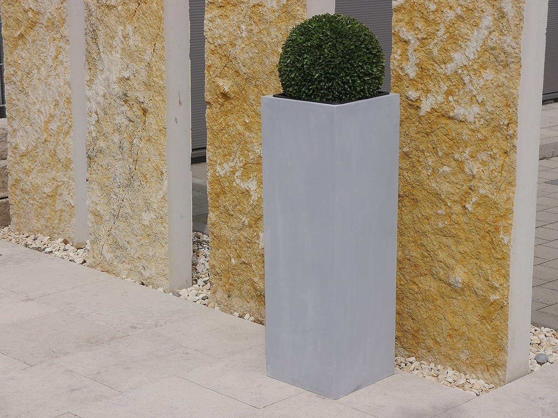 Pflanzkübel d. GARTENSCHAU BADEN-WÜRTT. aus Fiberglas in betongrau (38x38x100 cm)