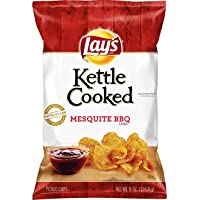 Lay's Kettle Cooked Mesquite BBQ Flavored Potato Chips, 8 Ounce