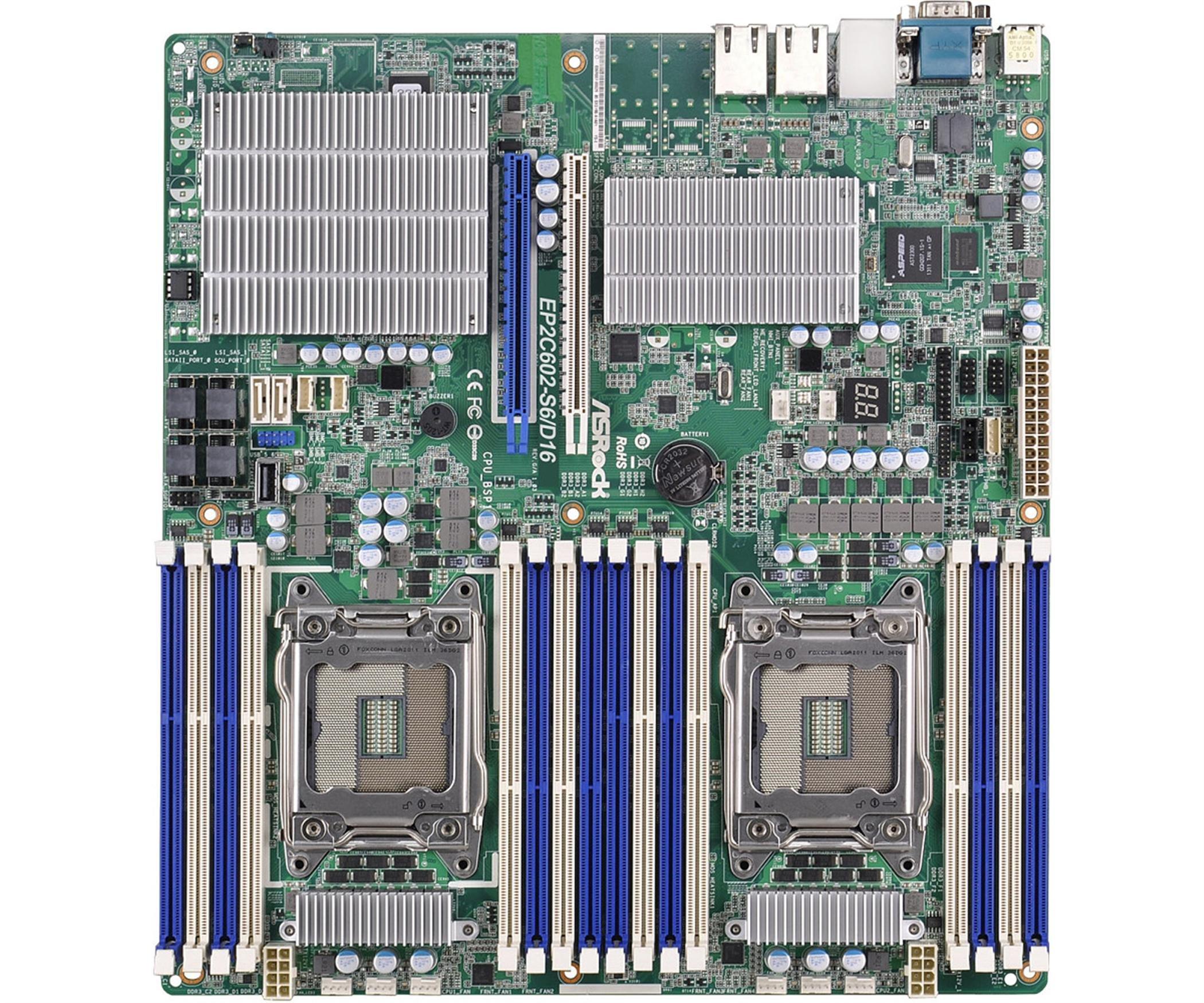 ASROCK RACK Motherboard SSI CEB 1066 LGA 2011 EP2C602-S6/D16
