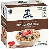 48-Count Quaker Instant Oatmeal Maple Brown Sugar Breakfast Cereal