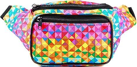 6f94268b546f SoJourner Holographic Rave Fanny Pack - Packs for festival women, men |  Cute Fashion Waist Bag Belt Bags (Rainbow Raver)