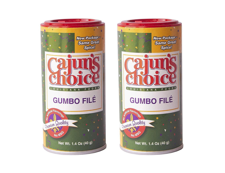 Gumbo Filé 1.4 oz Cajun's Choice Louisiana Foods (2 Pack)