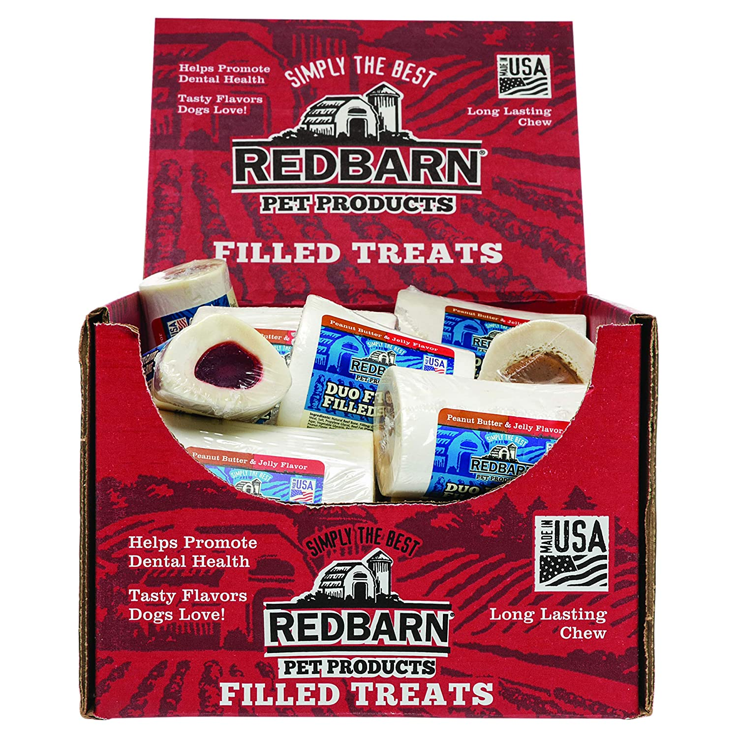 Redbarn Duo Small Filled Bone Peanut Butter & Jelly
