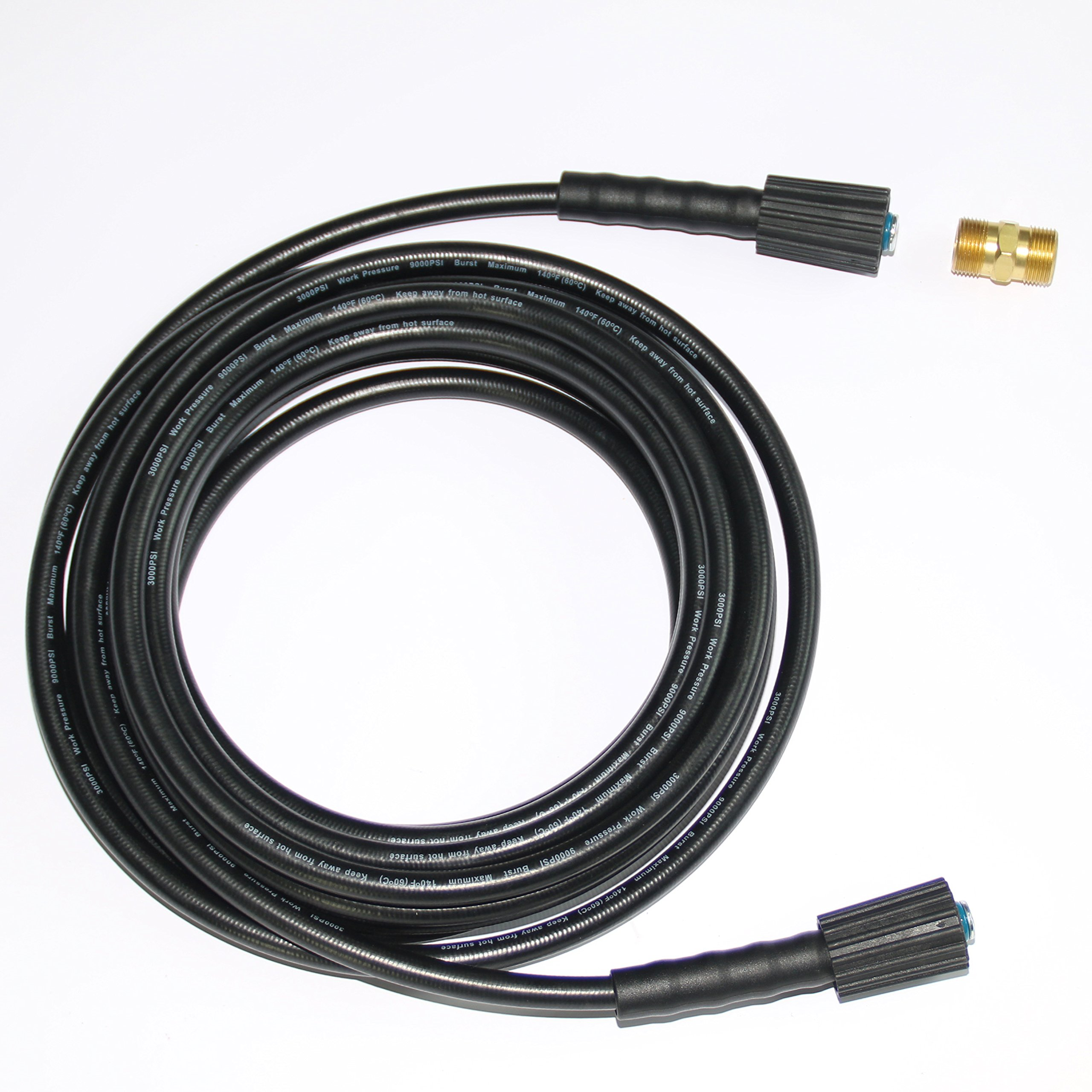 XZT 3000PSI 35FT/10m High Pressure Washer Extension Hose with Adapter by XZT