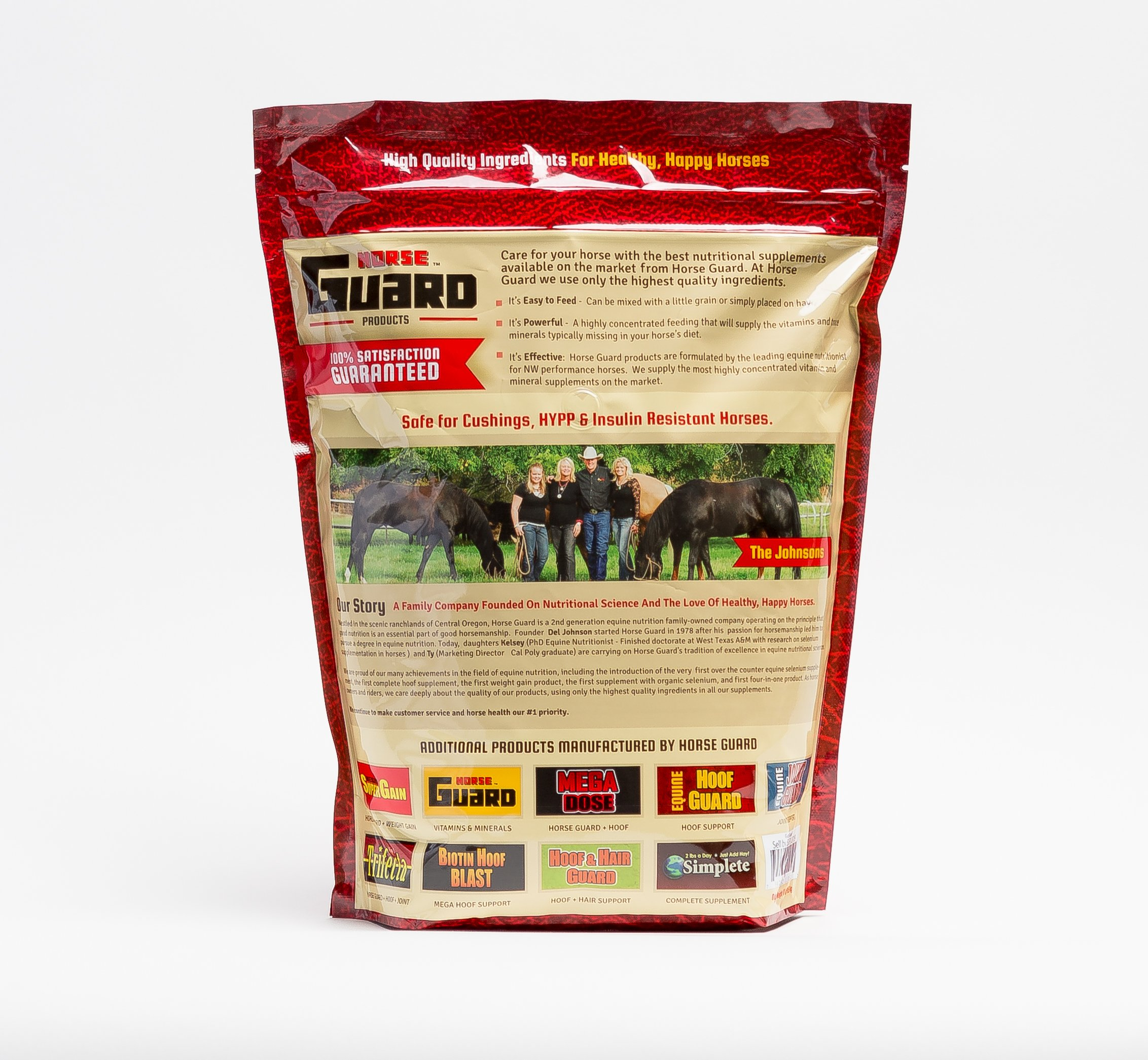 Horse Guard HOOF & HAIR GUARD EQUINE HOOF SUPPLEMENT AND EQUINE COAT SUPPLEMENT WITH AMINO ACIDS, BIOTIN, METHIONINE & SOY OIL, 10 lb by Horse Guard (Image #2)