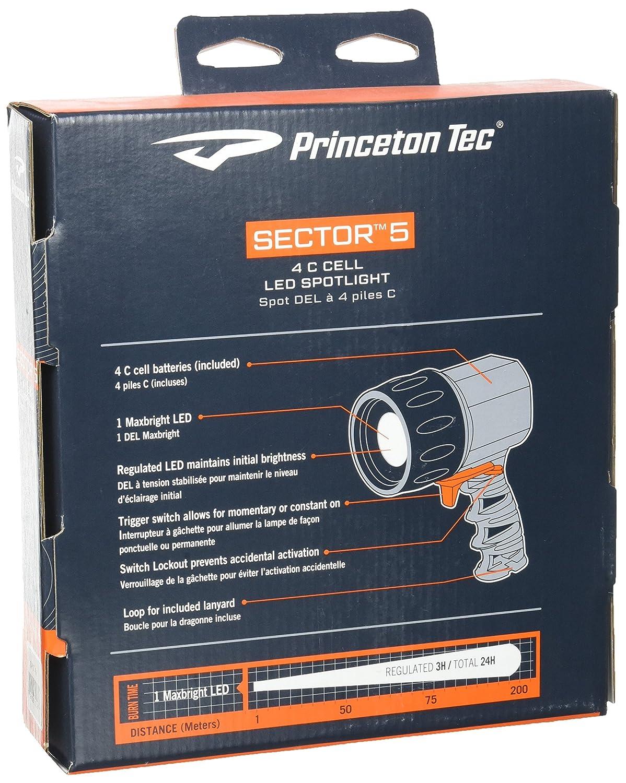 Princeton Tec Sector 5 - Linterna Sumergible de Buceo y Snorkel, Color Amarillo: Amazon.es: Deportes y aire libre
