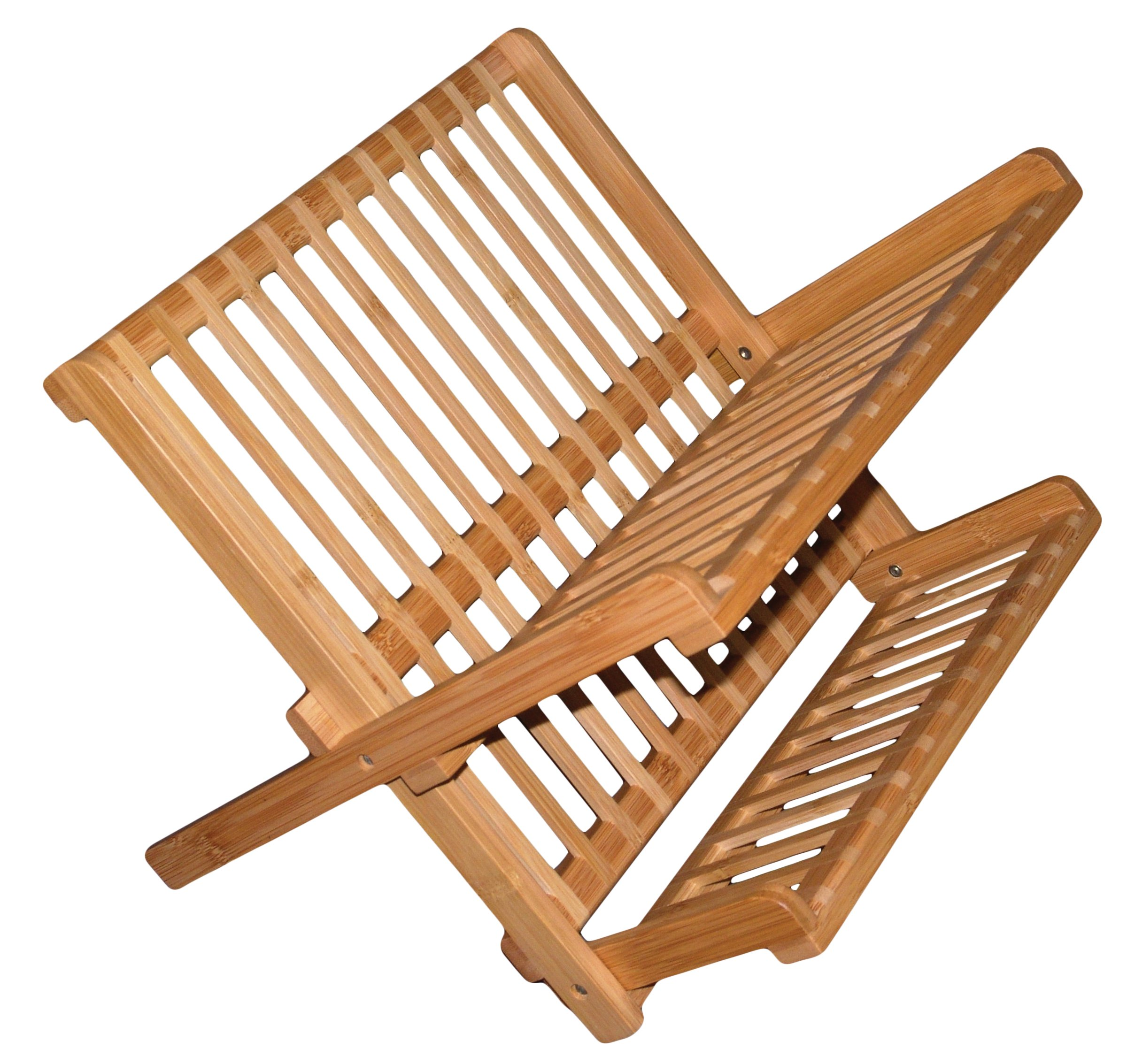 Totally Bamboo Compact Collapsible Bamboo Dish Drying Rack