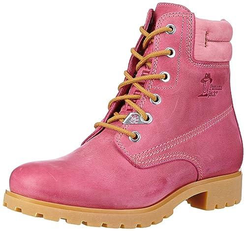 Panama Jack Panama 03 Colours, Zapatos de Cordones Brogue para Mujer, Rosa (Fucsia B2), 41 EU: Amazon.es: Zapatos y complementos